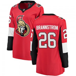 Women's Ottawa Senators Erik Brannstrom Fanatics Branded Breakaway Home Jersey - Red