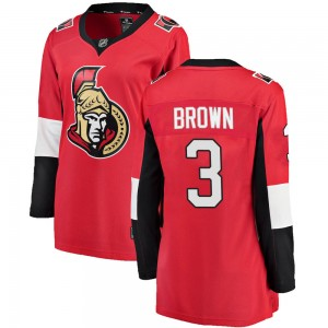 Women's Ottawa Senators Josh Brown Fanatics Branded Breakaway Home Jersey - Red
