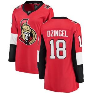 Women's Ottawa Senators Ryan Dzingel Fanatics Branded Breakaway Home Jersey - Red