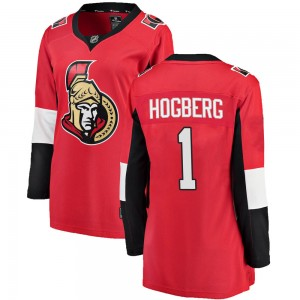 Women's Ottawa Senators Marcus Hogberg Fanatics Branded Breakaway Home Jersey - Red