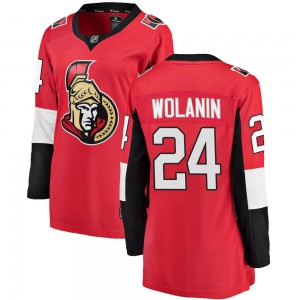 Women's Ottawa Senators Christian Wolanin Fanatics Branded Breakaway Home Jersey - Red