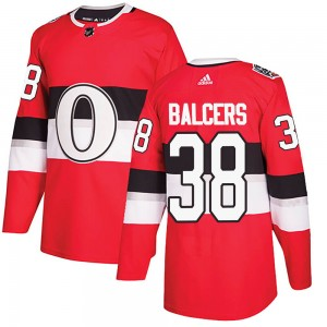 Men's Ottawa Senators Rudolfs Balcers Adidas Authentic ized 2017 100 Classic Jersey - Red