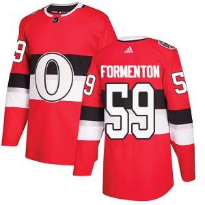 Men's Ottawa Senators Alex Formenton Adidas Authentic 2017 100 Classic Jersey - Red