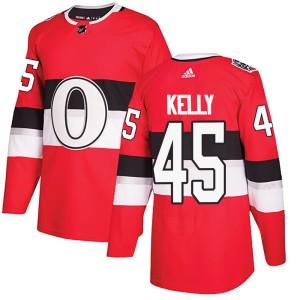 Men's Ottawa Senators Parker Kelly Adidas Authentic 2017 100 Classic Jersey - Red