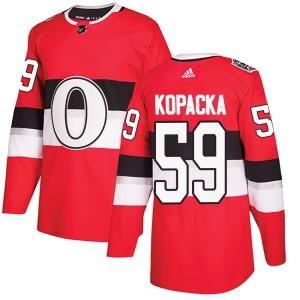 Men's Ottawa Senators Jack Kopacka Adidas Authentic 2017 100 Classic Jersey - Red