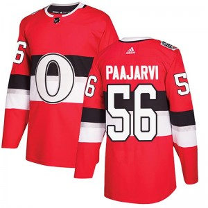 Men's Ottawa Senators Magnus Paajarvi Adidas Authentic 2017 100 Classic Jersey - Red