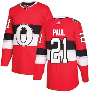 Men's Ottawa Senators Nick Paul Adidas Authentic 2017 100 Classic Jersey - Red