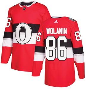 Men's Ottawa Senators Christian Wolanin Adidas Authentic ized 2017 100 Classic Jersey - Red