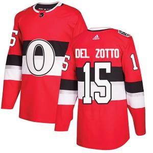 Men's Ottawa Senators Michael Del Zotto Adidas Authentic 2017 100 Classic Jersey - Red