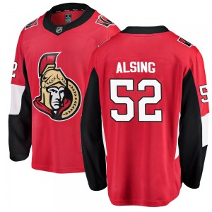 Youth Ottawa Senators Olle Alsing Fanatics Branded Breakaway Home Jersey - Red