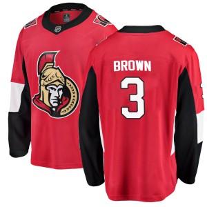 Youth Ottawa Senators Josh Brown Fanatics Branded Breakaway Home Jersey - Red