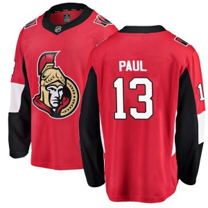Youth Ottawa Senators Nick Paul Fanatics Branded Breakaway Home Jersey - Red