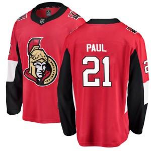 Youth Ottawa Senators Nick Paul Fanatics Branded Breakaway Home Jersey - Red