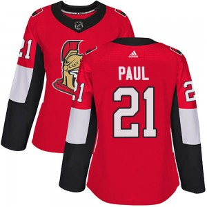 Women's Ottawa Senators Nick Paul Adidas Authentic Home Jersey - Red
