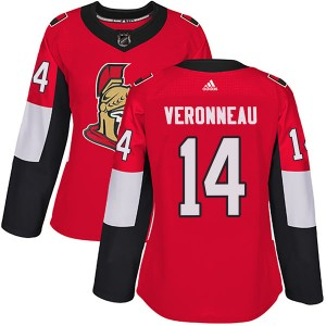 Women's Ottawa Senators Max Veronneau Adidas Authentic Home Jersey - Red