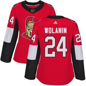 Women's Ottawa Senators Christian Wolanin Adidas Authentic Home Jersey - Red