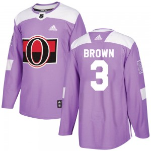Youth Ottawa Senators Josh Brown Adidas Authentic Fights Cancer Practice Jersey - Purple
