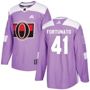 Youth Ottawa Senators Brandon Fortunato Adidas Authentic Fights Cancer Practice Jersey - Purple