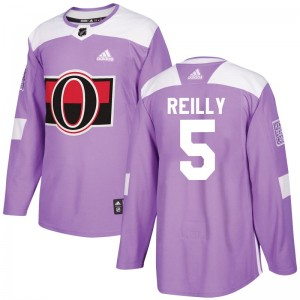 Men's Ottawa Senators Mike Reilly Adidas Authentic Fights Cancer Practice Jersey - Purple
