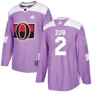 Men's Ottawa Senators Artem Zub Adidas Authentic Fights Cancer Practice Jersey - Purple