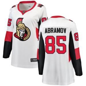Women's Ottawa Senators Vitaly Abramov Fanatics Branded Breakaway Away Jersey - White
