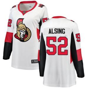 Women's Ottawa Senators Olle Alsing Fanatics Branded Breakaway Away Jersey - White
