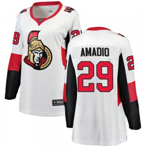 Women's Ottawa Senators Michael Amadio Fanatics Branded Breakaway Away Jersey - White