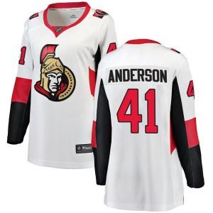 Women's Ottawa Senators Craig Anderson Fanatics Branded Breakaway Away Jersey - White