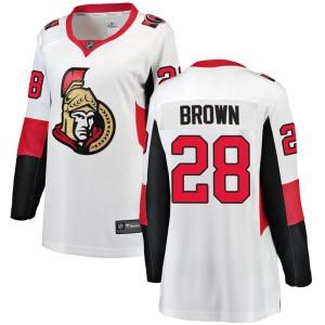 Women's Ottawa Senators Connor Brown Fanatics Branded Breakaway Away Jersey - White