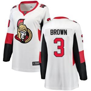 Women's Ottawa Senators Josh Brown Fanatics Branded Breakaway Away Jersey - White