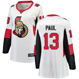 Women's Ottawa Senators Nick Paul Fanatics Branded Breakaway Away Jersey - White