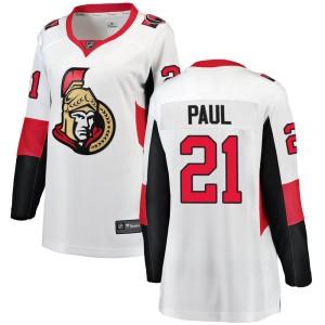 Women's Ottawa Senators Nick Paul Fanatics Branded Breakaway Away Jersey - White