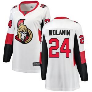 Women's Ottawa Senators Christian Wolanin Fanatics Branded Breakaway Away Jersey - White