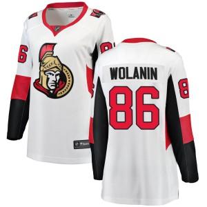 Women's Ottawa Senators Christian Wolanin Fanatics Branded ized Breakaway Away Jersey - White