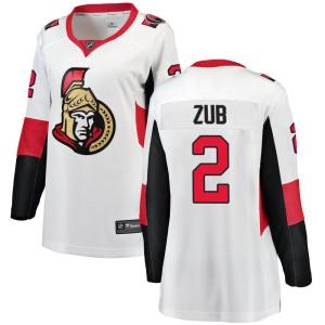 Women's Ottawa Senators Artem Zub Fanatics Branded Breakaway Away Jersey - White