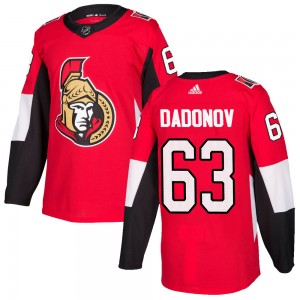 Youth Ottawa Senators Evgenii Dadonov Adidas Authentic Home Jersey - Red