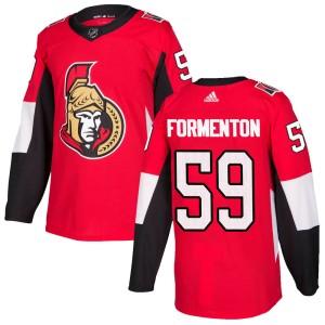 Youth Ottawa Senators Alex Formenton Adidas Authentic Home Jersey - Red