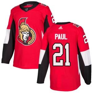 Youth Ottawa Senators Nick Paul Adidas Authentic Home Jersey - Red