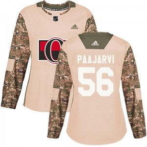 Women's Ottawa Senators Magnus Paajarvi Adidas Authentic Veterans Day Practice Jersey - Camo