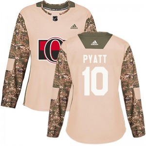 Women's Ottawa Senators Tom Pyatt Adidas Authentic Veterans Day Practice Jersey - Camo