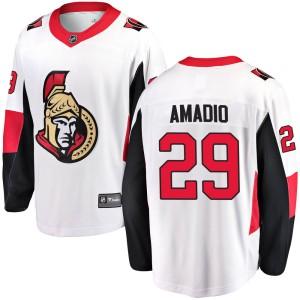 Youth Ottawa Senators Michael Amadio Fanatics Branded Breakaway Away Jersey - White