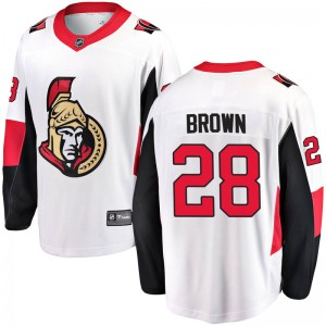 Youth Ottawa Senators Connor Brown Fanatics Branded Breakaway Away Jersey - White
