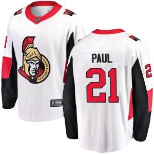 Youth Ottawa Senators Nick Paul Fanatics Branded Breakaway Away Jersey - White