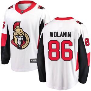 Youth Ottawa Senators Christian Wolanin Fanatics Branded ized Breakaway Away Jersey - White