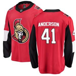 Men's Ottawa Senators Craig Anderson Fanatics Branded Breakaway Home Jersey - Red