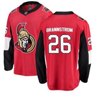 Men's Ottawa Senators Erik Brannstrom Fanatics Branded Breakaway Home Jersey - Red