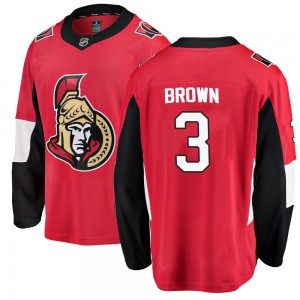 Men's Ottawa Senators Josh Brown Fanatics Branded Breakaway Home Jersey - Red