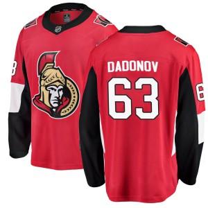 Men's Ottawa Senators Evgenii Dadonov Fanatics Branded Breakaway Home Jersey - Red