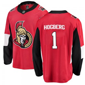 Men's Ottawa Senators Marcus Hogberg Fanatics Branded Breakaway Home Jersey - Red