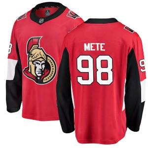 Men's Ottawa Senators Victor Mete Fanatics Branded Breakaway Home Jersey - Red
